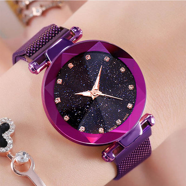 2019 Luxury Purple Starry Sky Magnetic Watch - Phantom Attraction