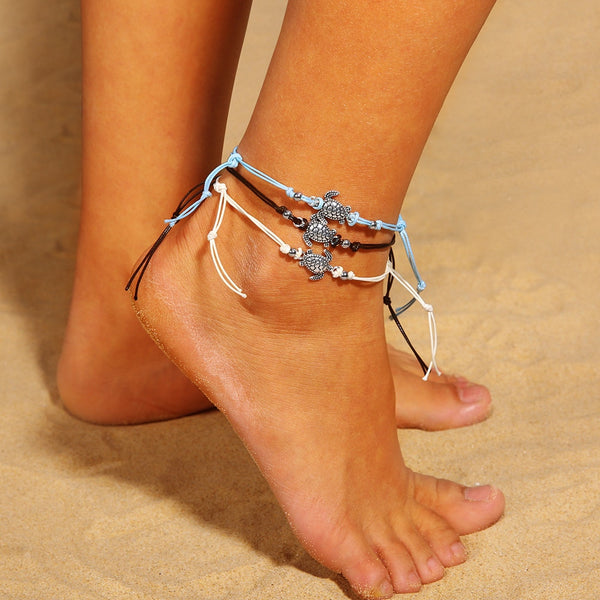 1 set = 3 pcs Vintage Tortoise Anklet - Phantom Attraction