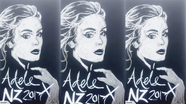 Kiwi artist's impressive painting of Adele goes to auction on Trade Me