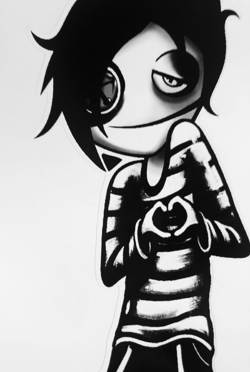 "Vinyl Stickers - Boy Black - ""Emo Love"""