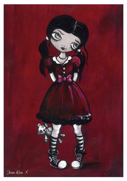 'Lil Rose Red' - Rose Red signed print