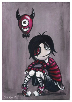 'Monster Balloon' - Boy Black signed print