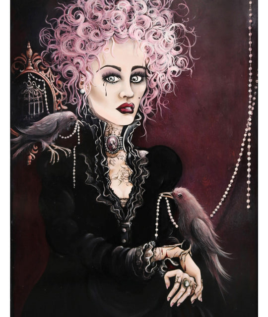 The Black Rose - signed print
