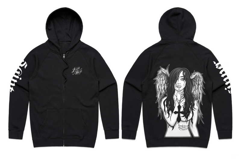 Limited edition! 2019 Fallen Angel Women's Zip-Up Hoodie