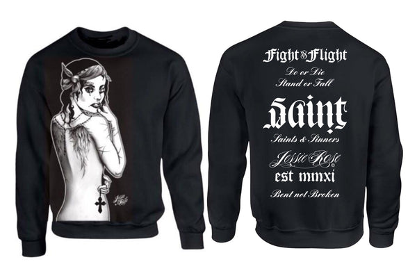 Saints & Sinners Sweatshirt - Angel Wings