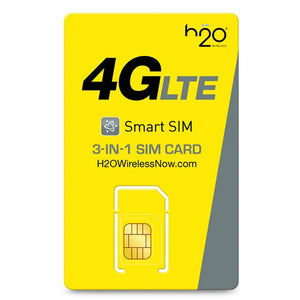 H2O Wireless SIM Card 3 in 1 (SIMaPay) - Prepaid Masters