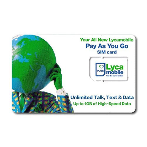 Lycamobile SIM Card 3 in 1 - Prepaid Masters