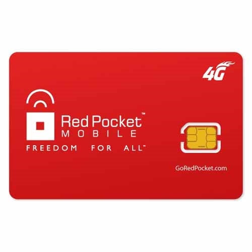 Red Pocket Mobile GSMT SIM Card Nano - Prepaid Masters