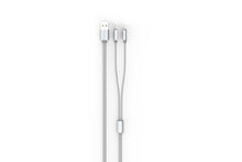 Load image into Gallery viewer, Proline Premium Dual Micro/Iphone USB Cable 3.5FT Silver - Prepaid Masters