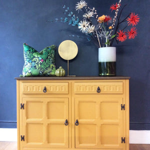 SOLD  Priory Sideboard 2 Drawers 2 Door Mustard.SOLD - Home Revival - Fusion Mineral Paint UK