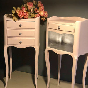 SOLD Pair of French Oak bedside tables . SOLD - Home Revival - Fusion Mineral Paint UK