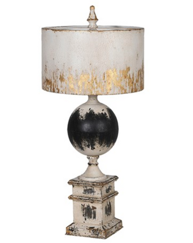 Bellamy Distressed Metal Table Lamp - Home Revival - Fusion Mineral Paint UK
