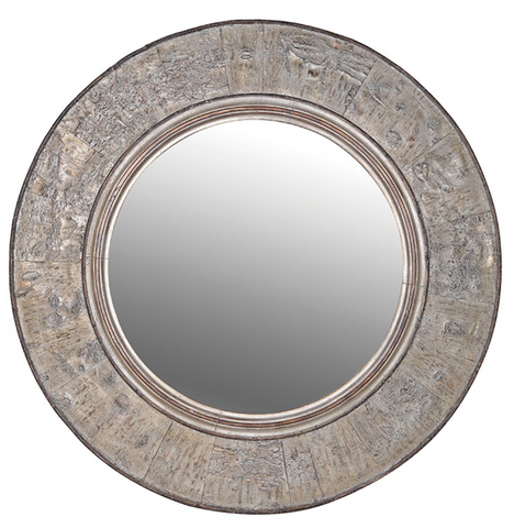 Bark Edge Round Mirror - Home Revival - Fusion Mineral Paint UK