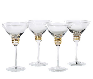 Set of 4 Martini Glasses - Home Revival - Fusion Mineral Paint UK