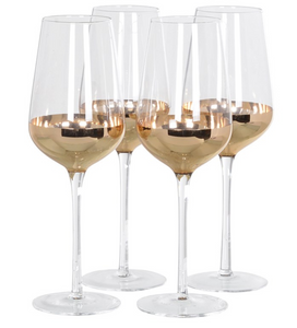 Set of 4 Copper Red Wine Glasses - Home Revival - Fusion Mineral Paint UK