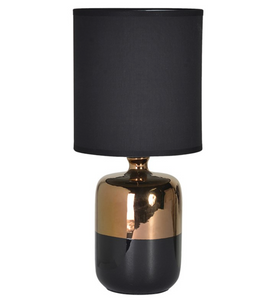 Bronze and Black Table Lamp with Shade