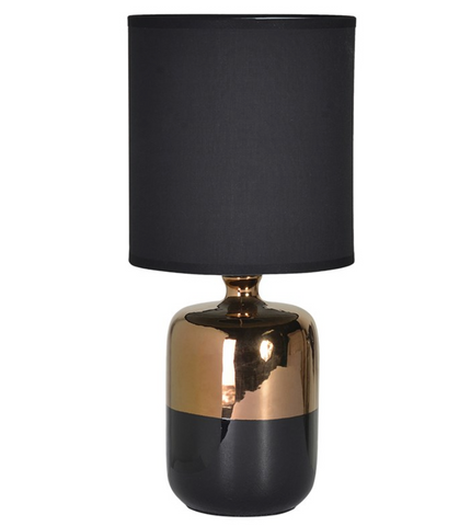 Bronze and Black Table Lamp with Shade - Home Revival - Fusion Mineral Paint UK