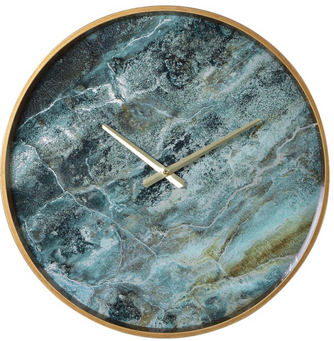 Amadeus Marble Effect Wall Clock - Home Revival - Fusion Mineral Paint UK