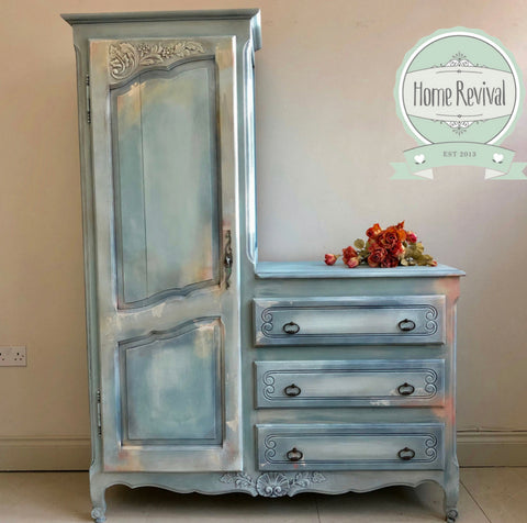French Compactum mixed cupboard and drawers - Home Revival - Fusion Mineral Paint UK