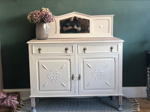 A Vintage oak sideboard painted in Fusions Cathedral Taupe - Home Revival - Fusion Mineral Paint UK