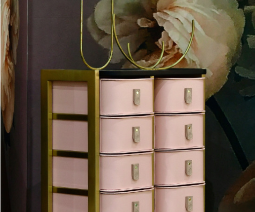Milan Storage Box - Rose