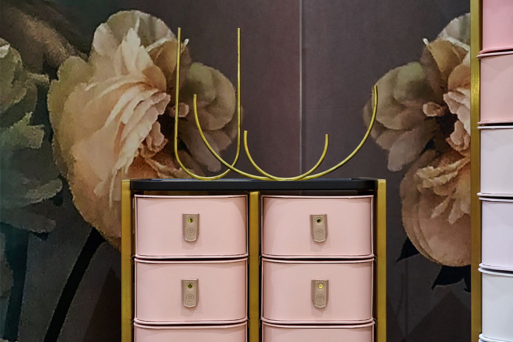 Sydney 30 Box Stand - Brass & Rose