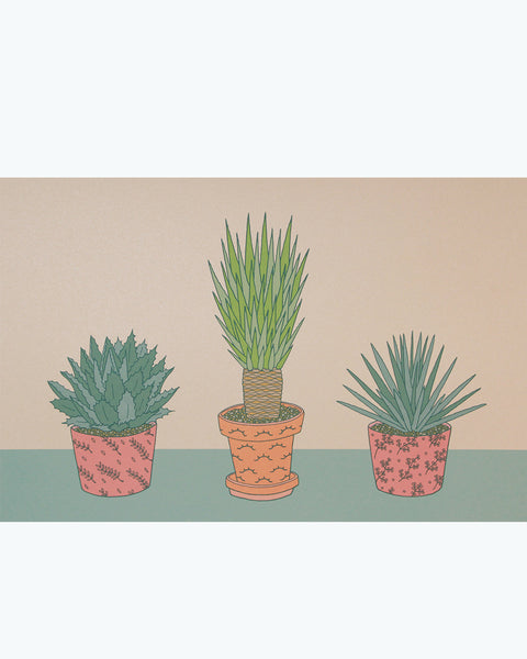 3 Agaves Poster - limited edition screen print