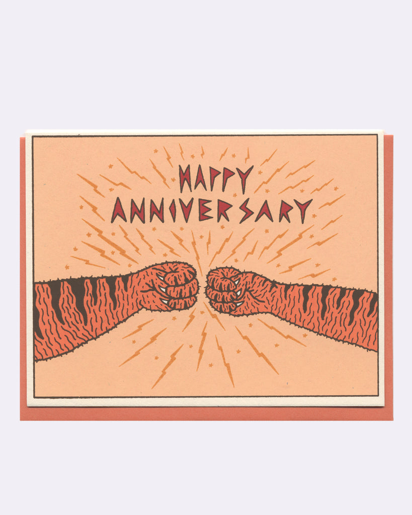 The Tiger Anniversary Card (orange)