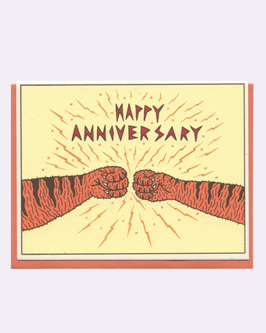 The Tiger Anniversary Card (yellow)