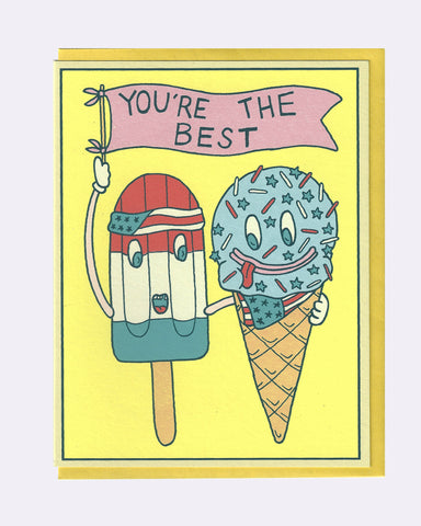 The Ice Cream Pals Card (You're the Best)