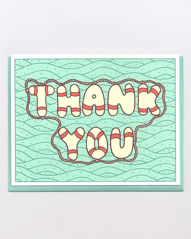 The Lifesaver Thank You Card