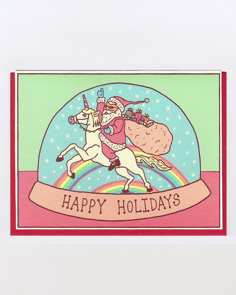 The Santa Unicorn Card