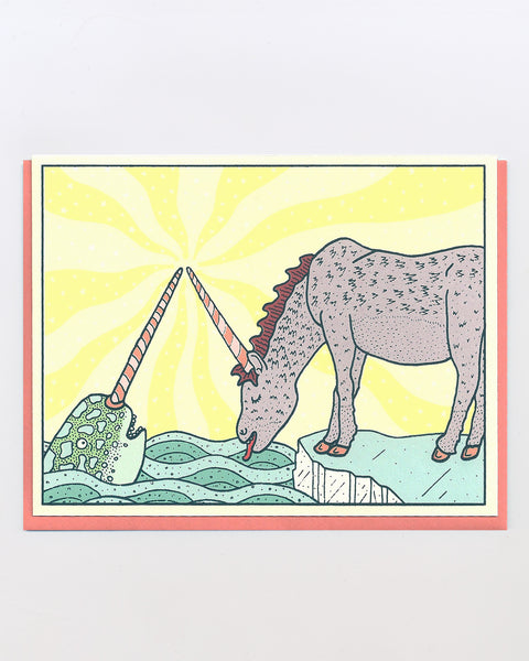 The Unicorn Narwhal Card