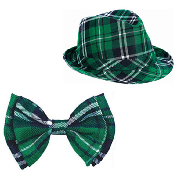 St. Patrick's Day Bow Tie Braces Hat Fancy Outfit Set Costume Props Party Accessory