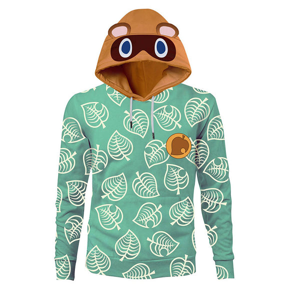 Unisex Animal Crossing Hoodies Timmy Tommy Cosplay Pullover 3D Print Hooded Sweatshirt