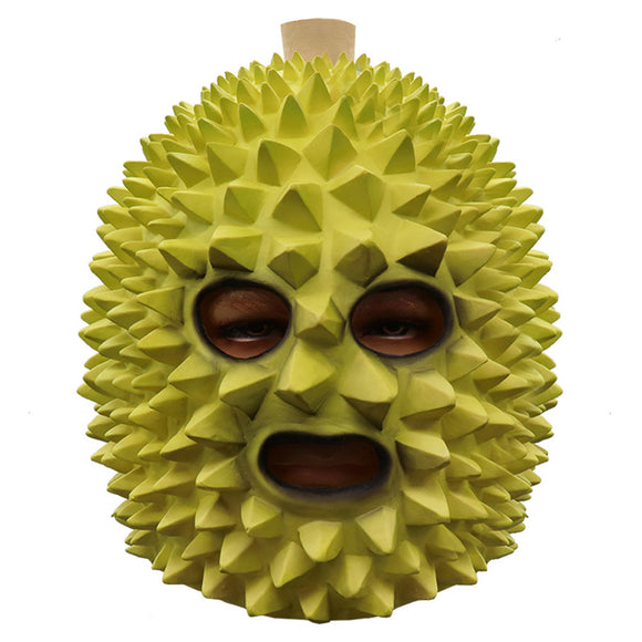 Latex Durian Mask Novelty Halloween Costume Party Latex Funny Mask Full Head Cosplay Mask