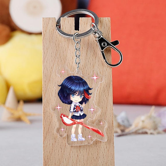 Anime KILL la KILL Keychain Cartoon Figure Model Acrylic Keychain Pendant Gifts