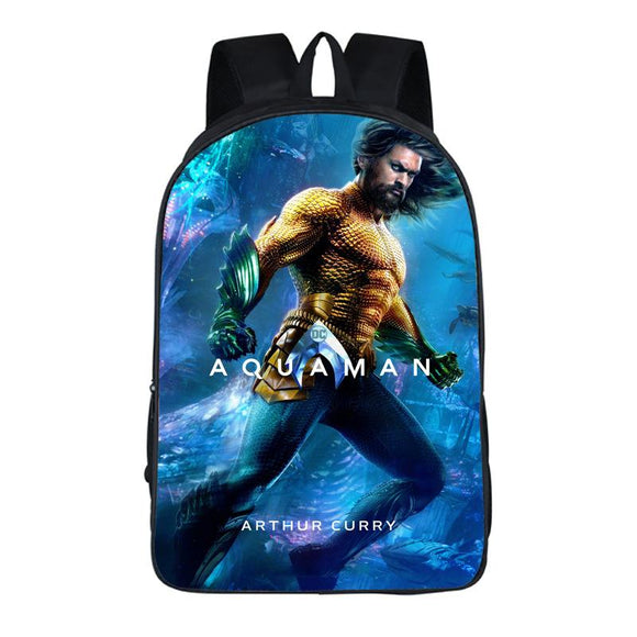 DC Justice League Aquaman Backpack Schoolbags 20L