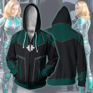 Avengers Captain Marvel Hooded Sweatshirt Pullover Hoodie Cosplay Costume-Fandomsky