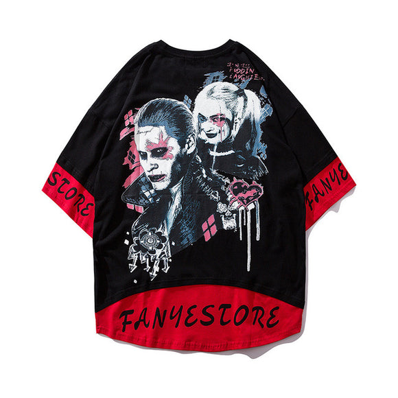 Suicide Squad Joker Harley Quinn 3D Print Casual T-Shirt Short Sleeve