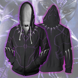 3D Print Black Panther Men's Hooded Sweatshirt Hoodies Pullover-Fandomsky