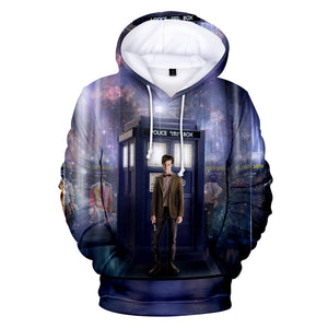 Unisex 3D Print Doctor Who Hoodie Hooded Sweatshirt Pullover-Fandomsky