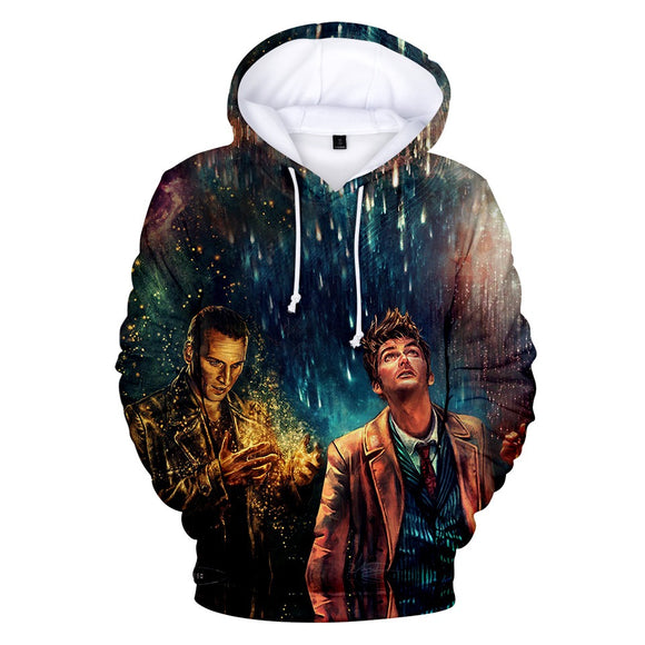 UniseD 3D Print Doctor Who Hoodie Hooded Sweatshirt Pullover-Fandomsky
