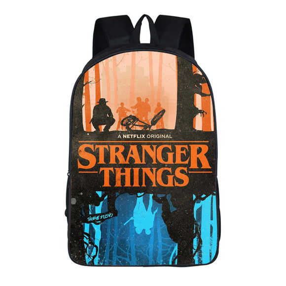 3D Print Stranger Things Logo Backpack School Bag Teens-Fandomsky