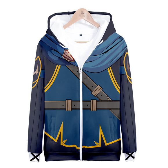 Unisex Fire EmblemMarth Lucina Awakening Hoodie Hooded Coat Jacket Sweatshirt Costume-Fandomsky