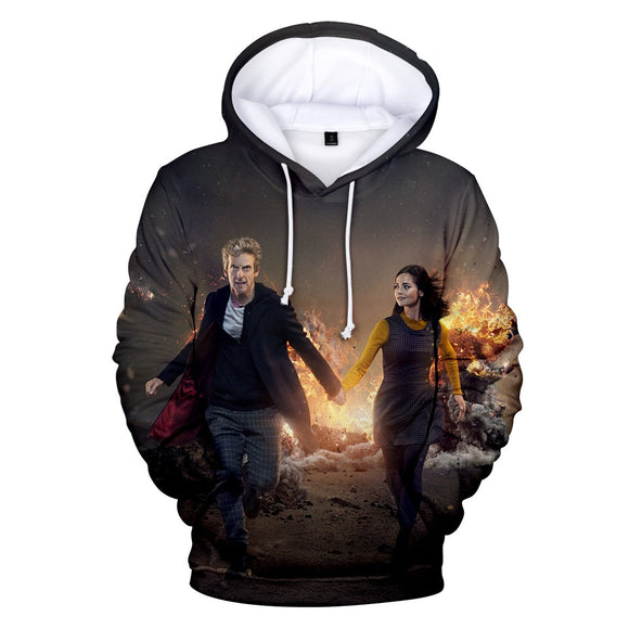 Unisex Doctor Who 3D Print Hoodie Hooded Sweatshirt Pullover-Fandomsky