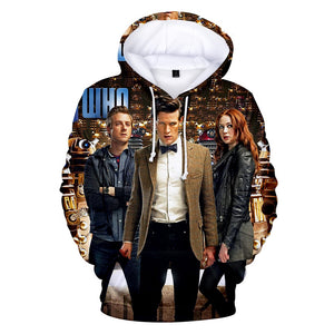 Unisex Doctor Who Hoodie Hooded Sweatshirt Pullover 3D Print-Fandomsky