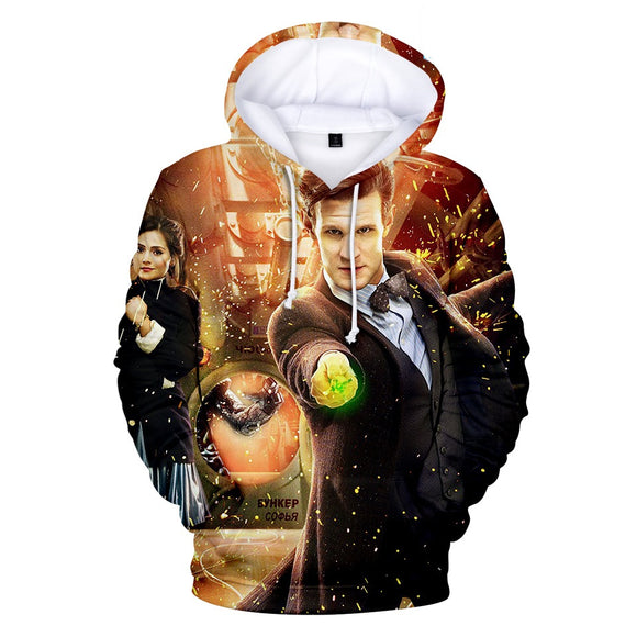 Unisex Doctor Who Hooded Sweatshirt Pullover 3D Print Hoodie-Fandomsky