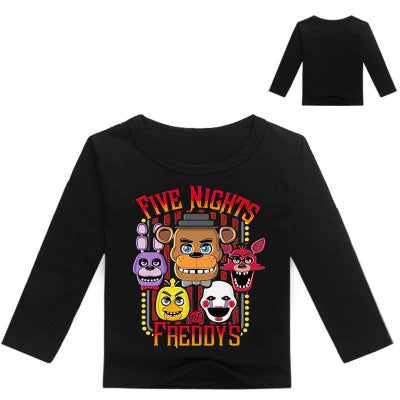 Children's Five Nights At Freddy's Multicolor Printed Long Sleeve T-Shirt