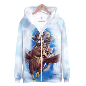 Unisex Hoodies 3D Print Sweatshirts Coat Tops ZIip-up Fire Emblem